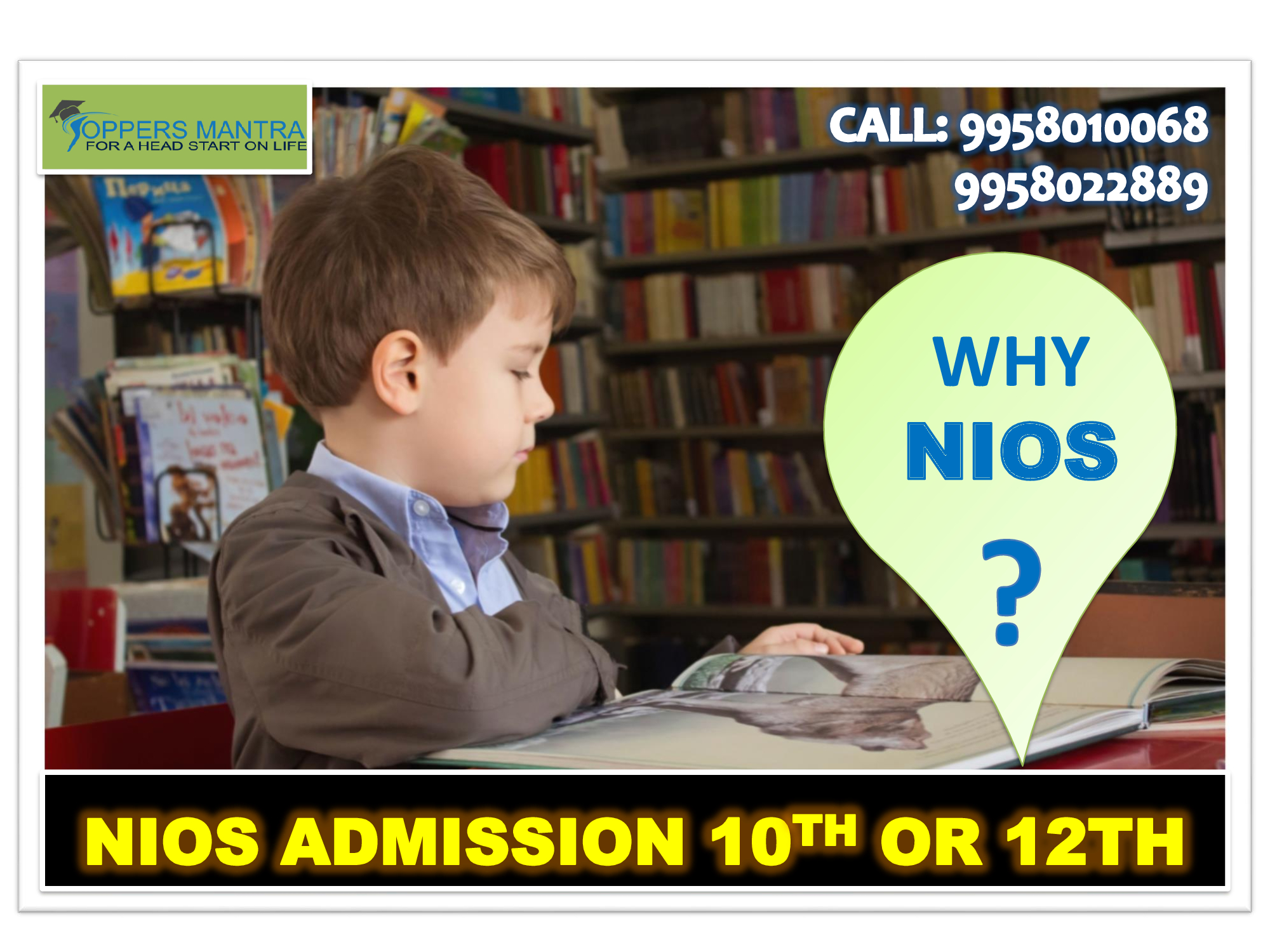 nios admission, nios 10th 12th admission