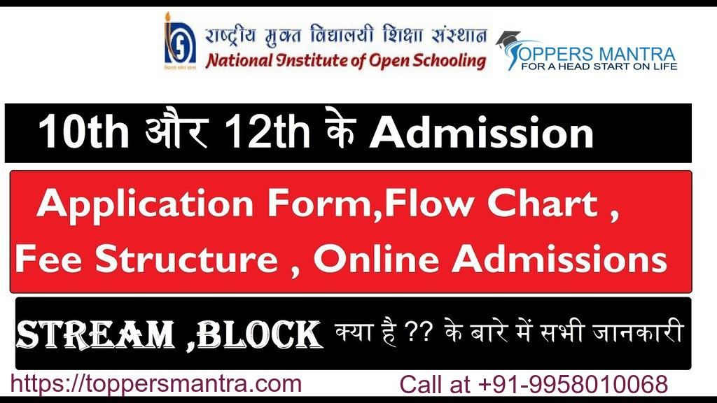 NIOS 10th 12th Admission & Fee Structure