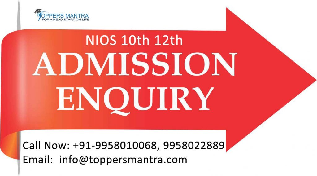 NIOS 10th & 12th Admission 2019-2020