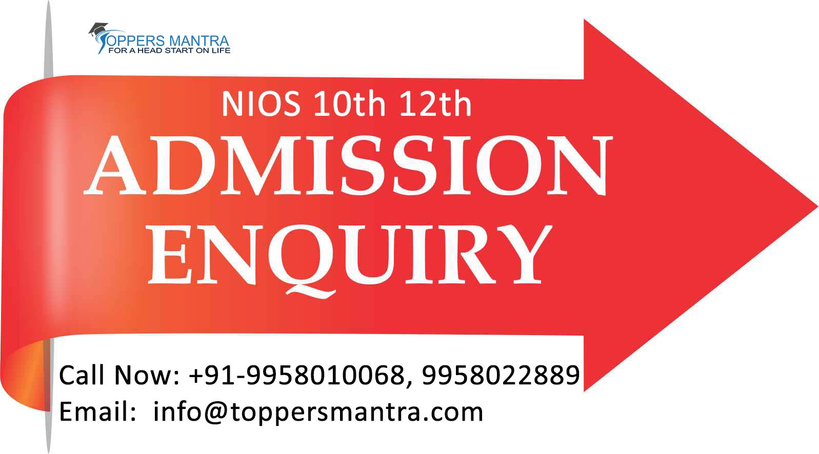 NIOS 10th & 12th Admission 2019-2020